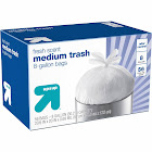up & up Medium Flap-Tie Trash Bags, 8 Gallon, Fresh Scent - 56 count