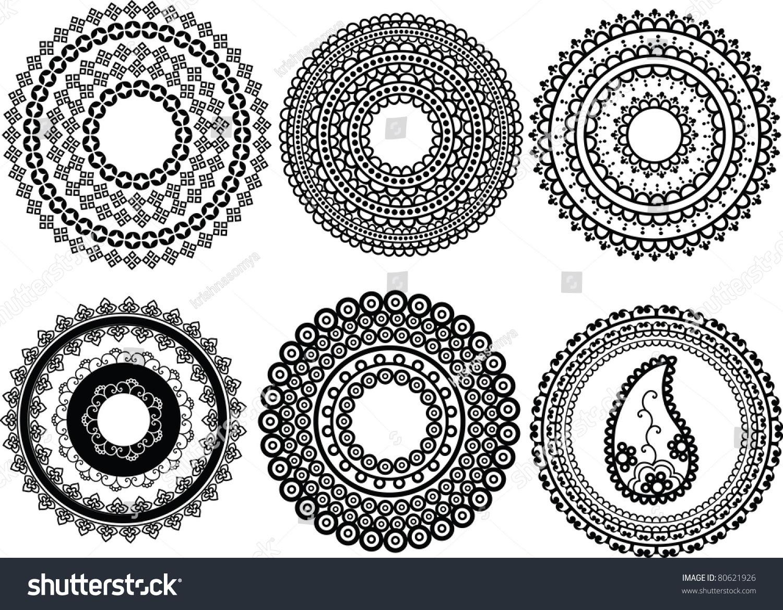 Mandala Design Henna Art Inspired Easily Stock Vector 80621926 ...