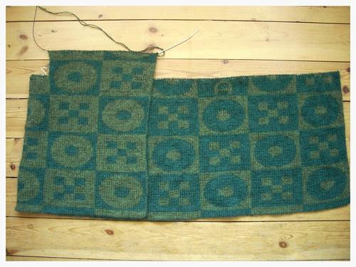 Double-knitted jacked in progress by Asplund