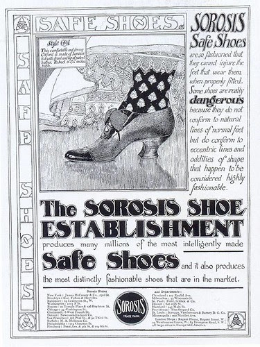 Sorosis Safe Shoes ad, 1905