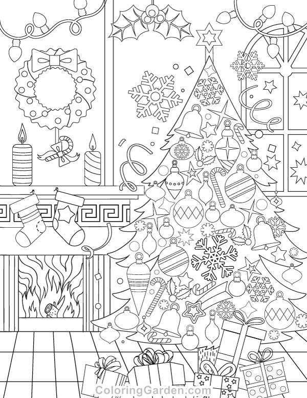 Religious Christmas - Free Colouring Pages