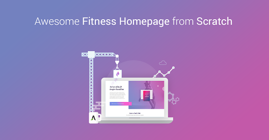 Step-by-Step Tutorial to Build a Fitness Homepage Layout