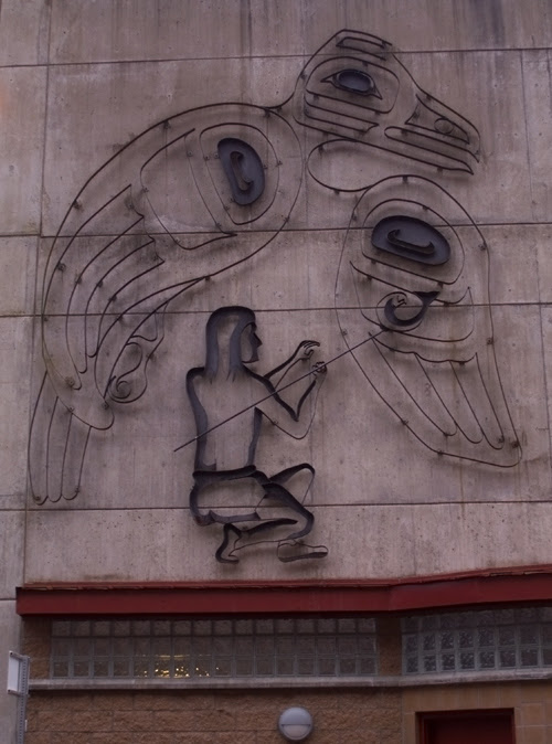 parking garage art, Juneau, Alaska