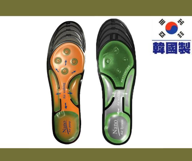 【NANOSOLE NANO Air System 氣囊鞋墊】抗菌除臭、護足卸力 韓國製造鞋墊