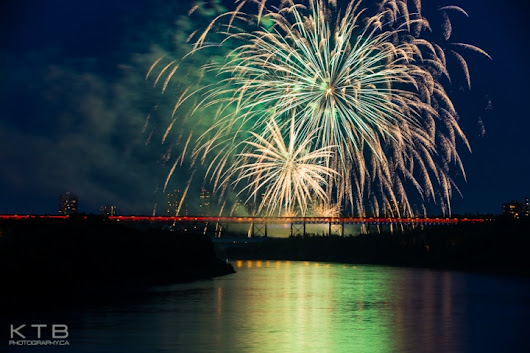 Canada Day Fireworks in Edmonton 2014 - KTB Photography