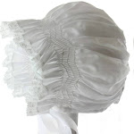 Feltman Brothers Infant Girls White Baby Bonnet Lace Trim