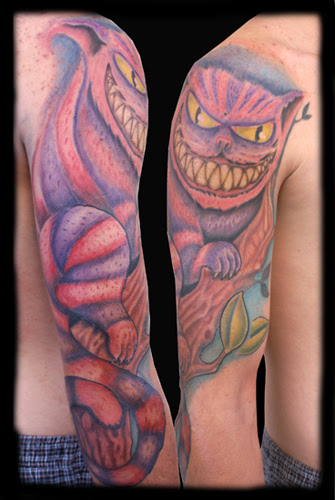 Jeff Johnson - Cheshire Cat Large Image. Keyword Galleries: Color Tattoos,