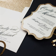 Gold Glitter Wedding Invitations   Too Chic & Little Shab