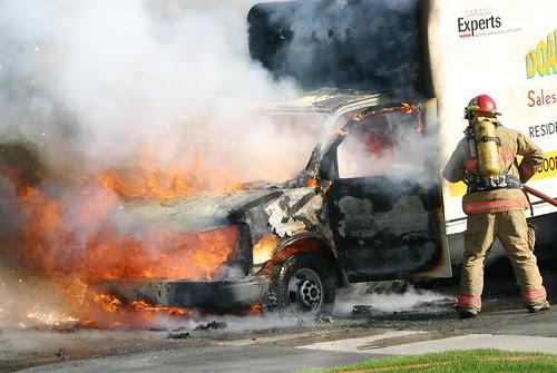 Commercial Truck Fire by Jason Edward Scott Bain