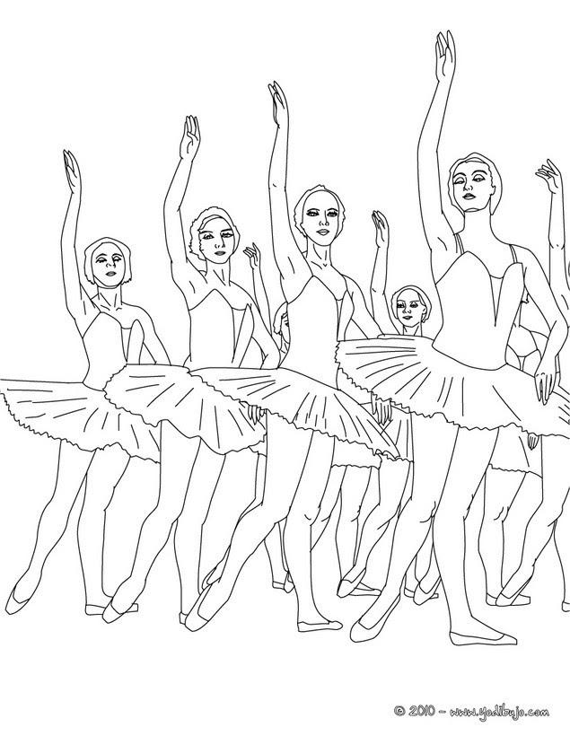 Dibujos De Danza Ballet Para Colorear 41 Dibujos Para Colorear Los