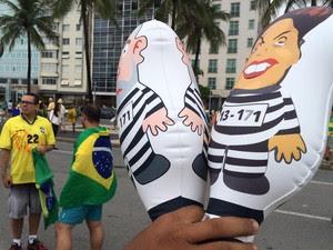 MANIFESTAÇÃO - RIO - 9H40 (Foto: Nicolás Satriano/G1)