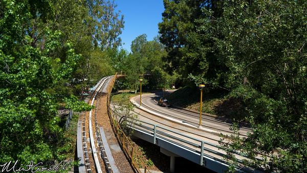 Disneyland Resort, Disneyland, Tomorrowland, Rocket Rods, People Mover, Track
