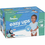 Pampers Easy Ups Training Pants Pull On Disposable Diapers, Size 2T-3T - 140 count