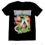 Power Rangers Men's Tommy Oliver The Green Ranger Mixtape, T-Shirt, Black