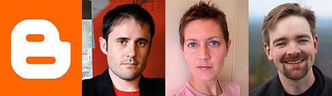 Blogger.com founders, Ev Williams, Meg Hourihan, & Paul Bausch