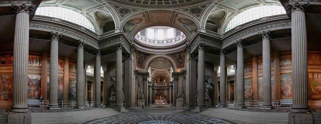 Interior do Panthéon, Paris, França