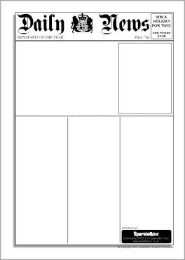 1000+ images about Newspaper template on Pinterest | Classroom ...
