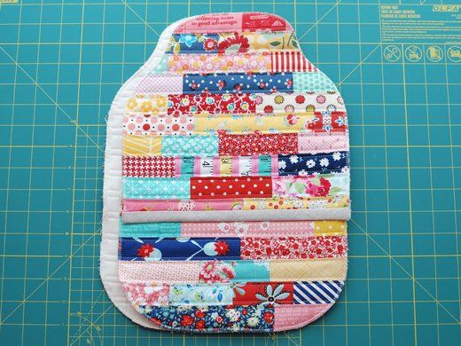 Retro Mama | Quilted Hot Water Bottle Cozy Tutorial