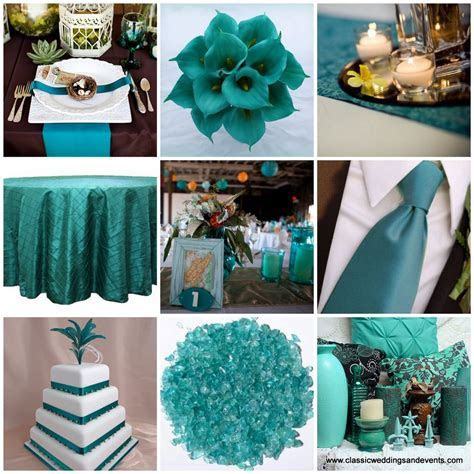 Teal Weddings on Pinterest   Teal, Teal Table and Peacock
