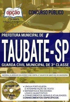 Apostila Concurso Prefeitura de Taubaté 2018 | GUARDA MUNICIPAL