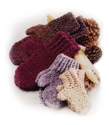 Family of Mittens Pattern Free Crochet Pattern