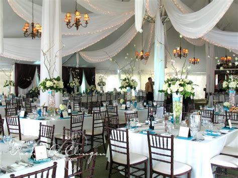 Cascading ceiling drapery Toronto wedding tents   Wedding