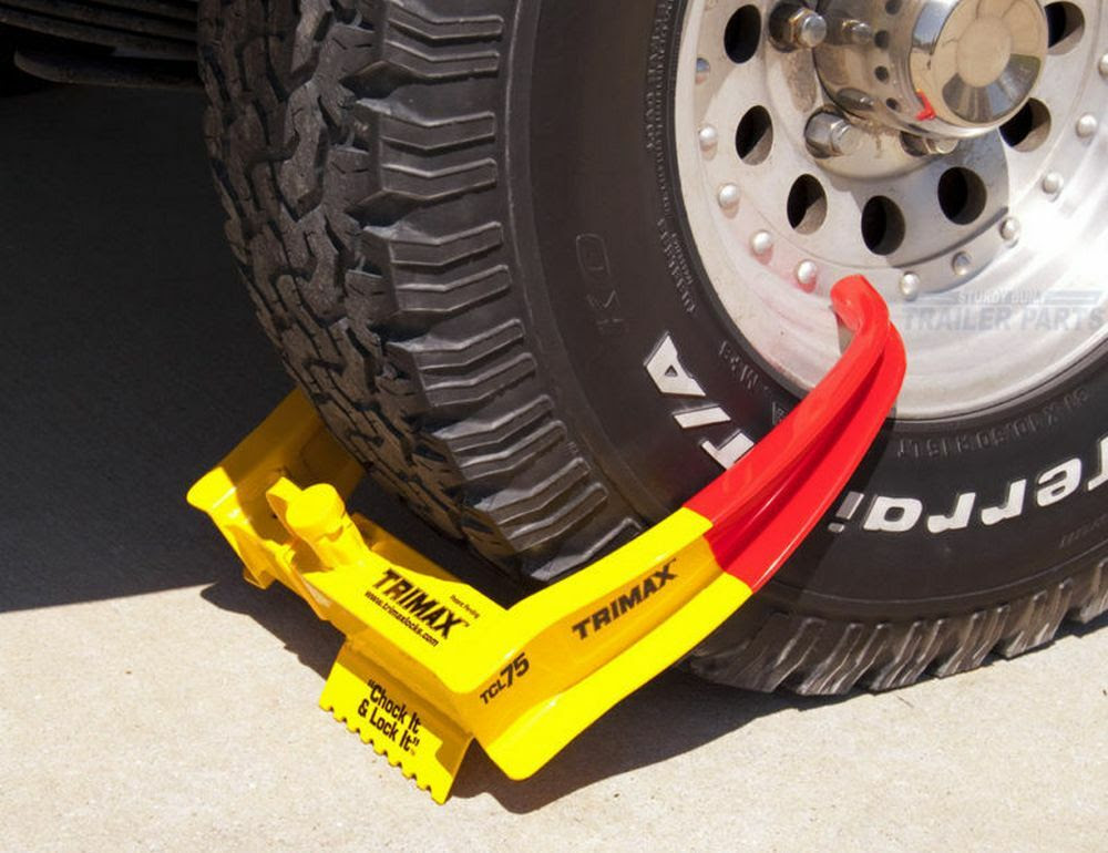 Tcl265 Trimax Trailer Auto Security Wheel Chock Lock