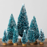 Factory Direct Craft Assorted Frosted Green Bottle Brush Trees, 1 1/4 to 4'' High DIY Christmas Bottle Brush Trees, Craft Supplies