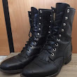 Shop Justin USA 504 Mens 7 Womens 9 Ankle Boots Black Leather Kiltie Lace Up | TrueGether