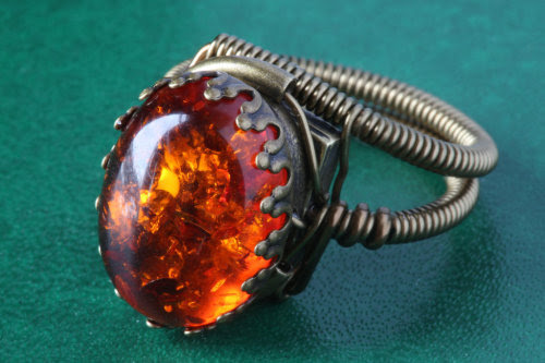 Steampunk Jewelry • Steampunk Jewelry - Ring - Amber by...