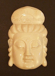 قلادة الفيل العاج Kwanyin - أنثى Boddhisattva - 20th C
