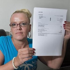 Helen Christie, 40, recebeu conta de R$ 70 mil após postar fotos de viagem de férias no Facebook