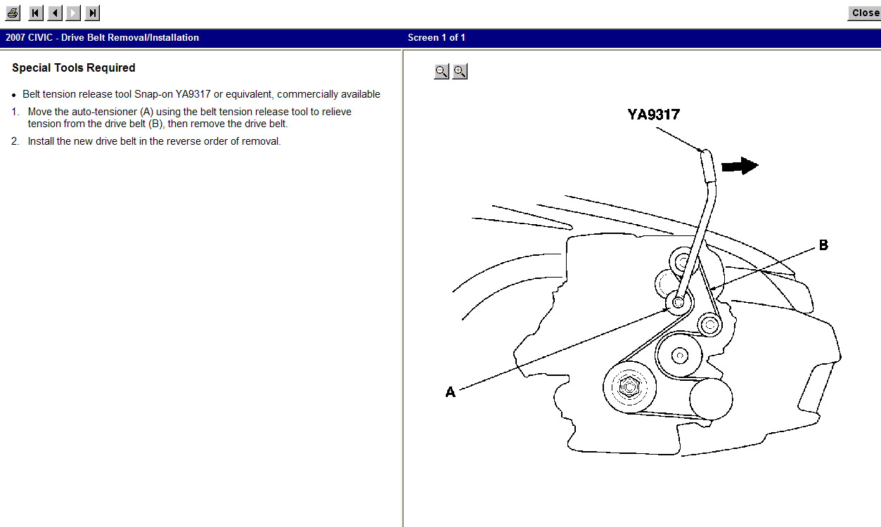 32 2007 Honda Civic Serpentine Belt Diagram