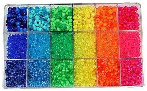 Bright Rainbow Bead Extravaganza Box   Beads   Kids Crafts