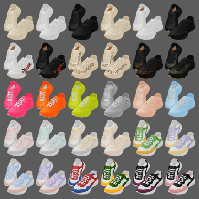 Rhyton sneakers at MMSIMS image 1885 670x670 Sims 4 Updates