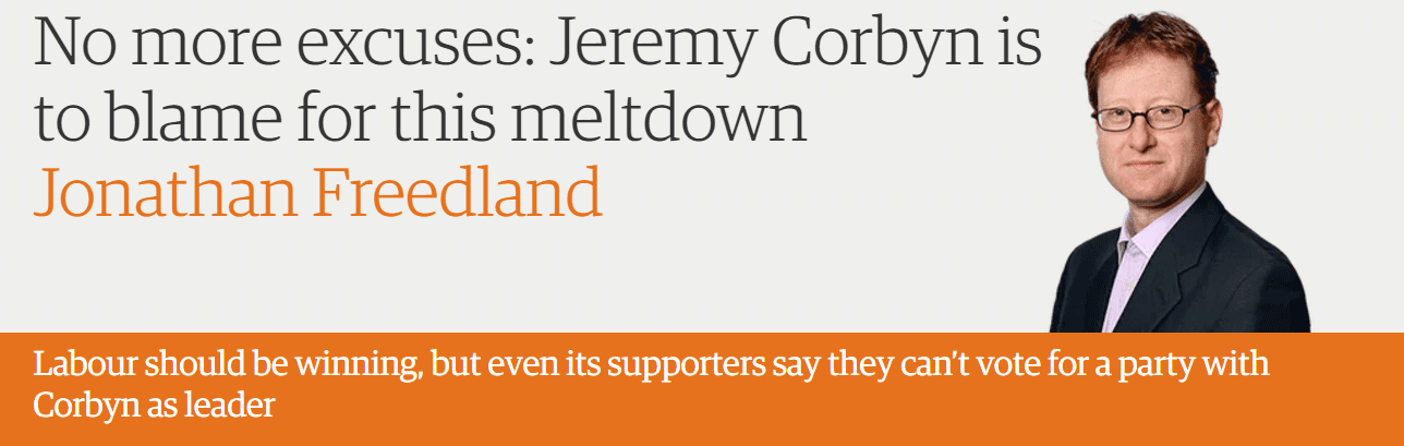 No more excuses: Jeremy Corbyn is to blame for this meltdown