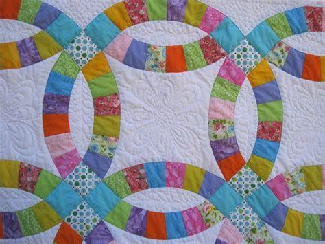 Double Wedding Ring Quilt by Groovyiaia   Quilting Ideas