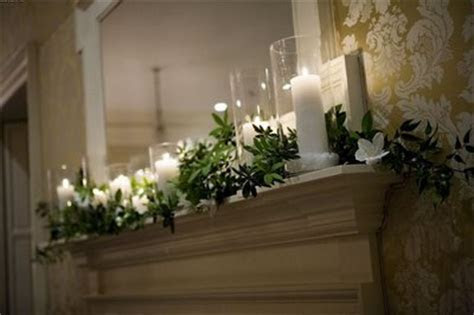 Where can I find a green garland for mantle decor on the