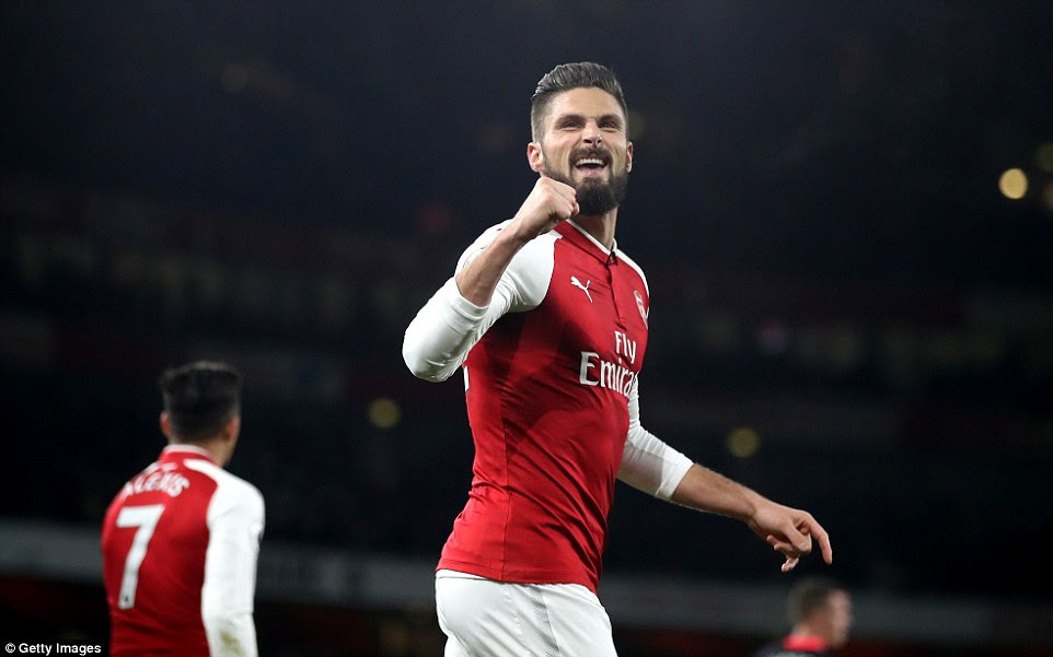 Aubameyang's move appeared dependent on Chelsea signing Olivier Giroud