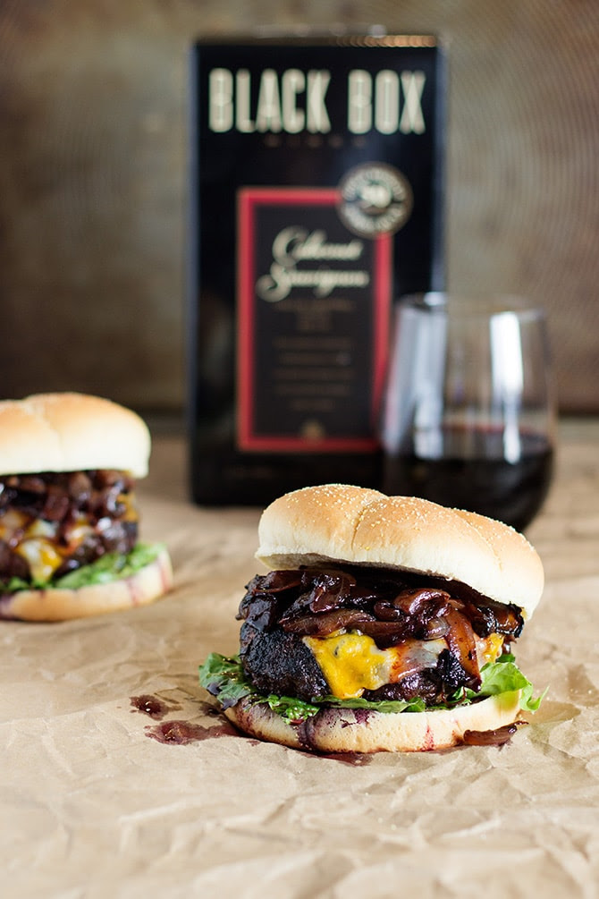 Red Wine Cheeseburgers
