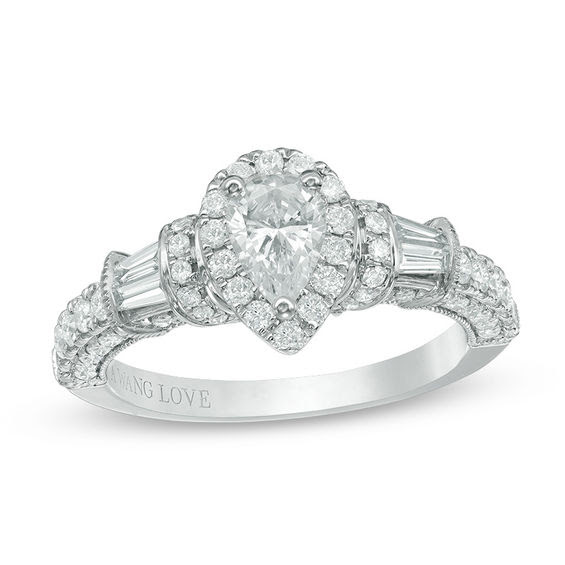 Vera Wang Love Collection 118 Ct Tw Pear Shaped Diamond Frame