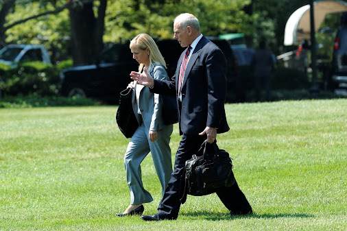 President Trump nominated White House staffer and cybersecurity expert Kirstjen Nielsen to running a...