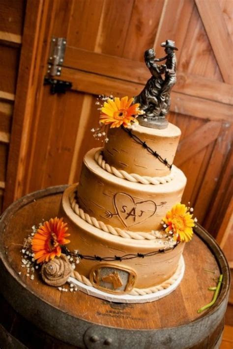 35 Lovely Rustic Inspired Country Wedding Cakes
