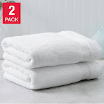 Charisma Soft 100% Hygro Cotton 2-piece Bath Towel Set, White