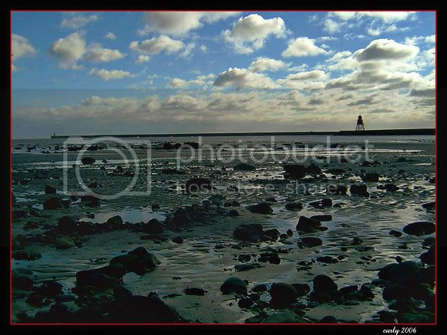 picture of South Shields harbour and The Groyne