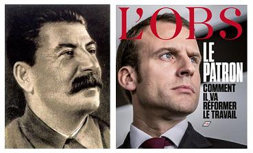 """Résultat de recherche d'images pour """"Macron stalinien"""""""