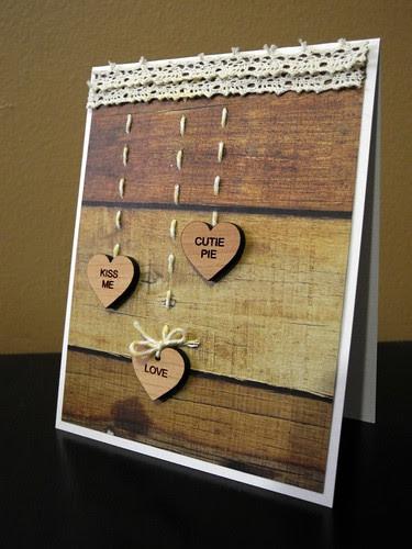 Wooden Heart Valentine