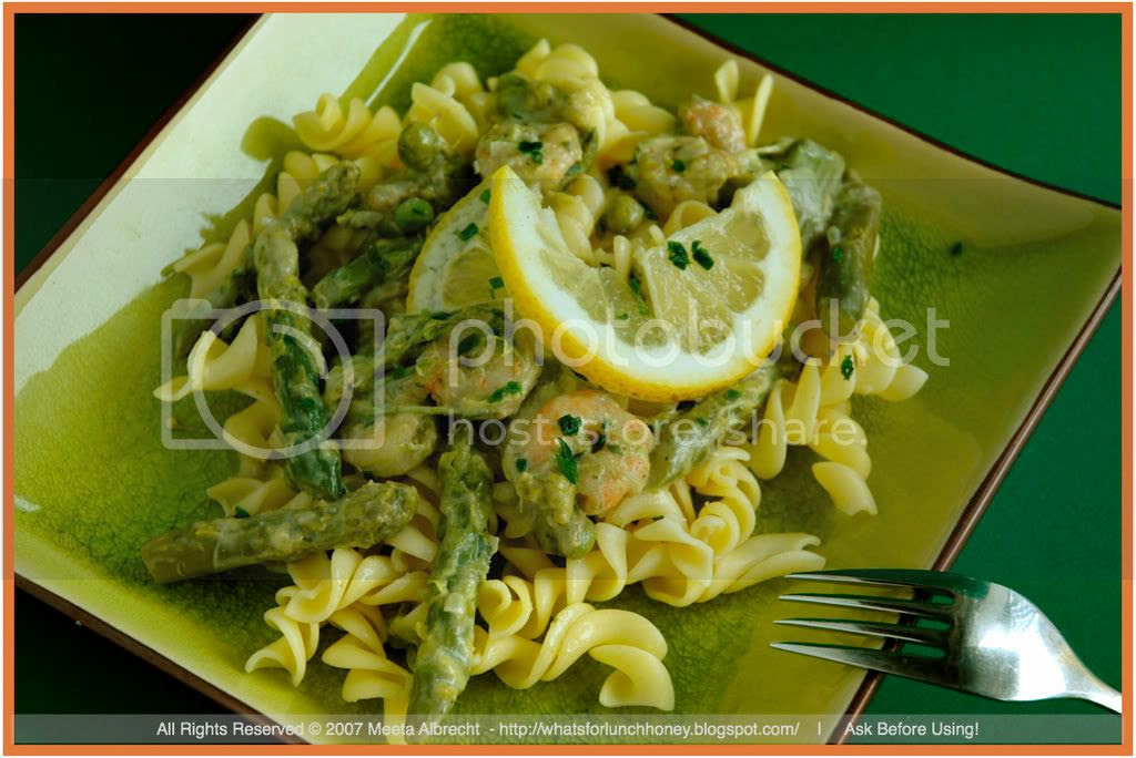 Shrimp and Asparagus Pasta (03) by Meeta Albrecht