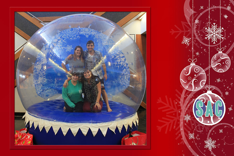 Human Snow Globe And Big Red Chair Photos