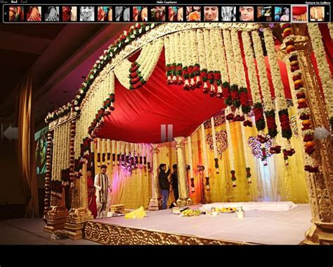 mandap traditional draped Indian flower garlands for